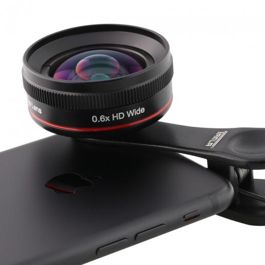 Širokouhlý objektív 0.6X univerzálny pre mobil