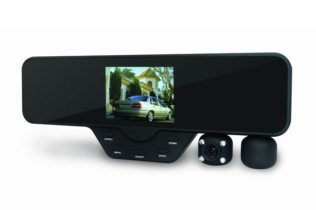 Rear view mirror in the car - 2x dual camera with FULL HD