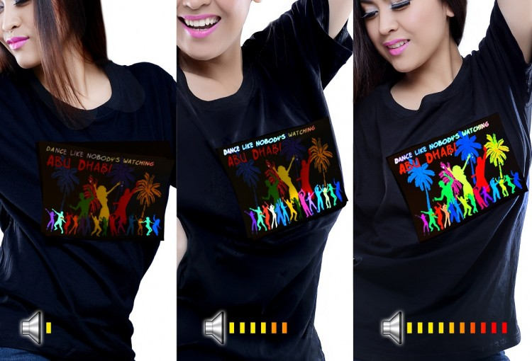 custom led t-shirts